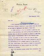Image of Case 9498 34. Letter from the Devizes Union saying they will support A. up to the end of the year and will then receive him into the Workhouse at Devizes  9 December 1910  page 1