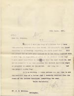 Image of Case 9498 41. Copy letter to the Islington Home asking for their opinion on supplying A. with a cork leg  13 March 1911  page 1