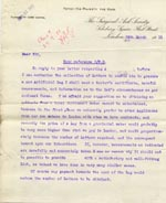 Image of Case 9498 48. Letter from the Surgical Aid Society setting out their conditions  24 March 1911  page 1