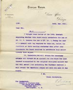 Image of Case 9498 58. Letter from Devizes Union agreeing to contribute towards the cost of the leg  24 May 1911  page 1