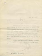 Image of Case 9498 62. Copy letter to the Surgical Aid Society enclosing the cheque for part payment of A's leg  31 May 1911  page 1