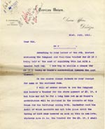Image of Case 9498 65. Letter from Devizes Union enclosing their cheque for £2 10/-  31 July 1911  page 1