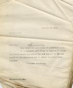 Image of Case 9498 70. Copy letter to Mr Medlicott thanking him for his donation  1 December 1911  page 1