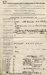 Image of Case 9603 1. Application to Waifs and Strays' Society  9 March 1903  page 1