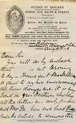 Image of Case 9627 24. Letter from Mrs Graham to Revd Edward Rudolf complaining about Mary Mortimer's delay in removing J.  13 August 1903  page 1