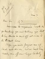 Image of Case 9635 7. Letter from Revd J. about T. settling in at the Pelsall Home  7 June 1903  page 1