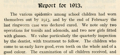 Report on the health of children at Connaught Home For Girls, Lowestoft