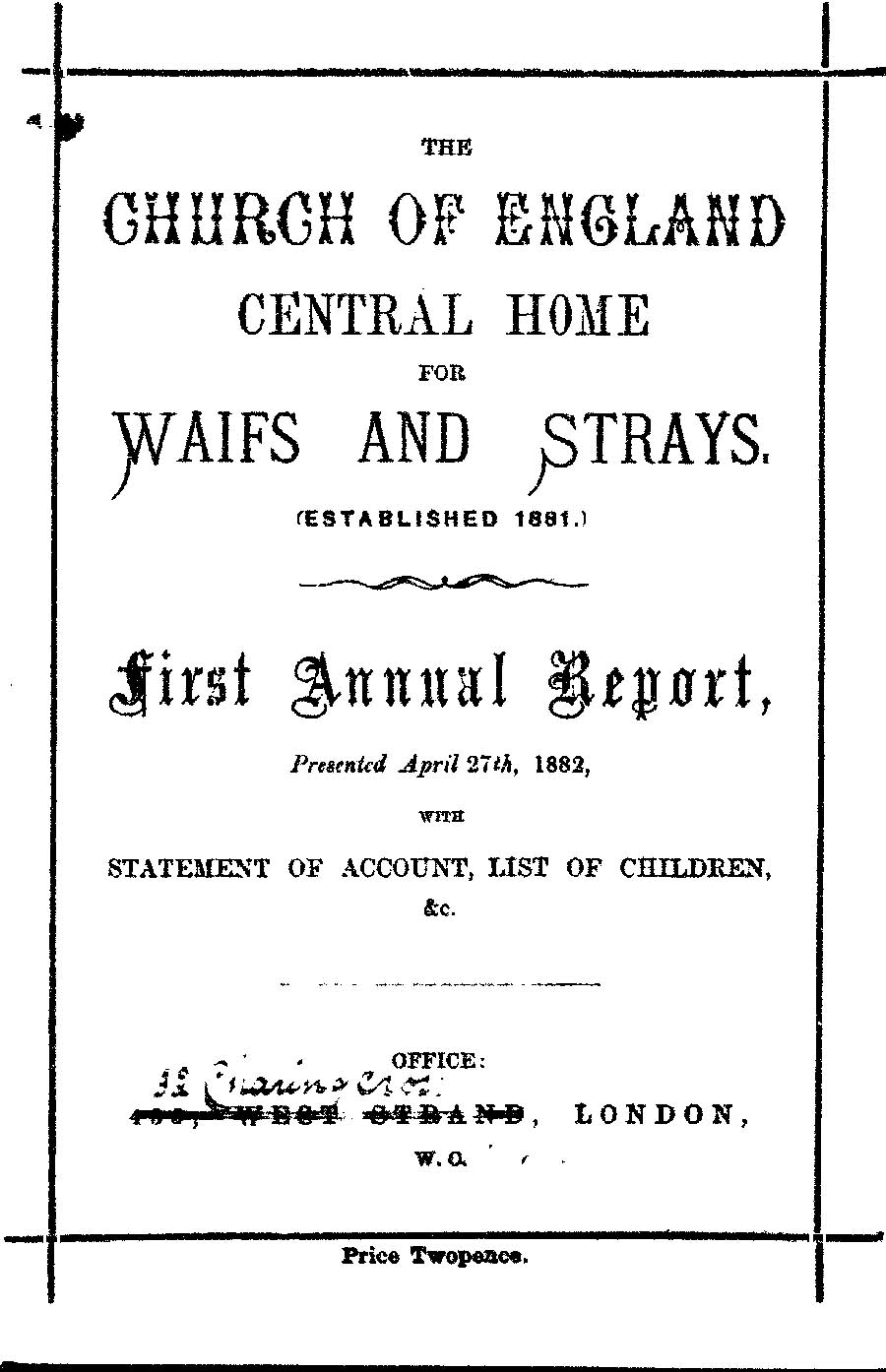 Annual Report 1882 - page 1