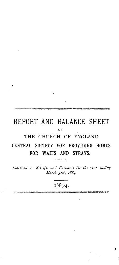 Annual Report 1884 - page 1