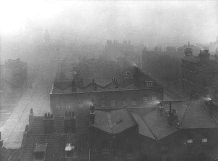 century the air around London was heavily polluted by industrial ...