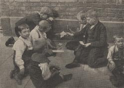 Card games on the street