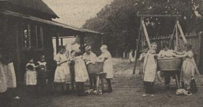 Young washerwomen of the Cold Ash Industrial School