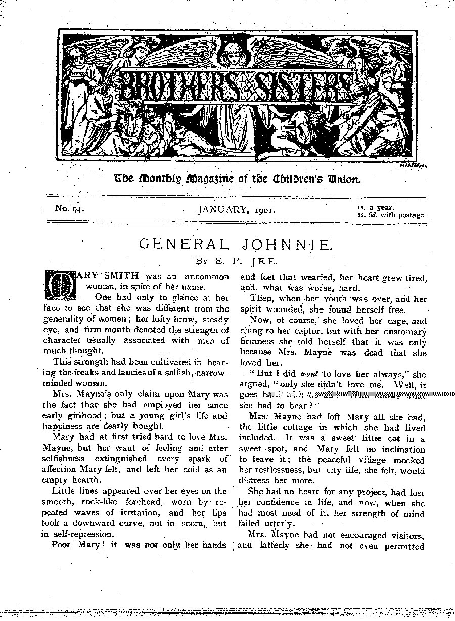Brothers and Sisters January 1901 - page 1