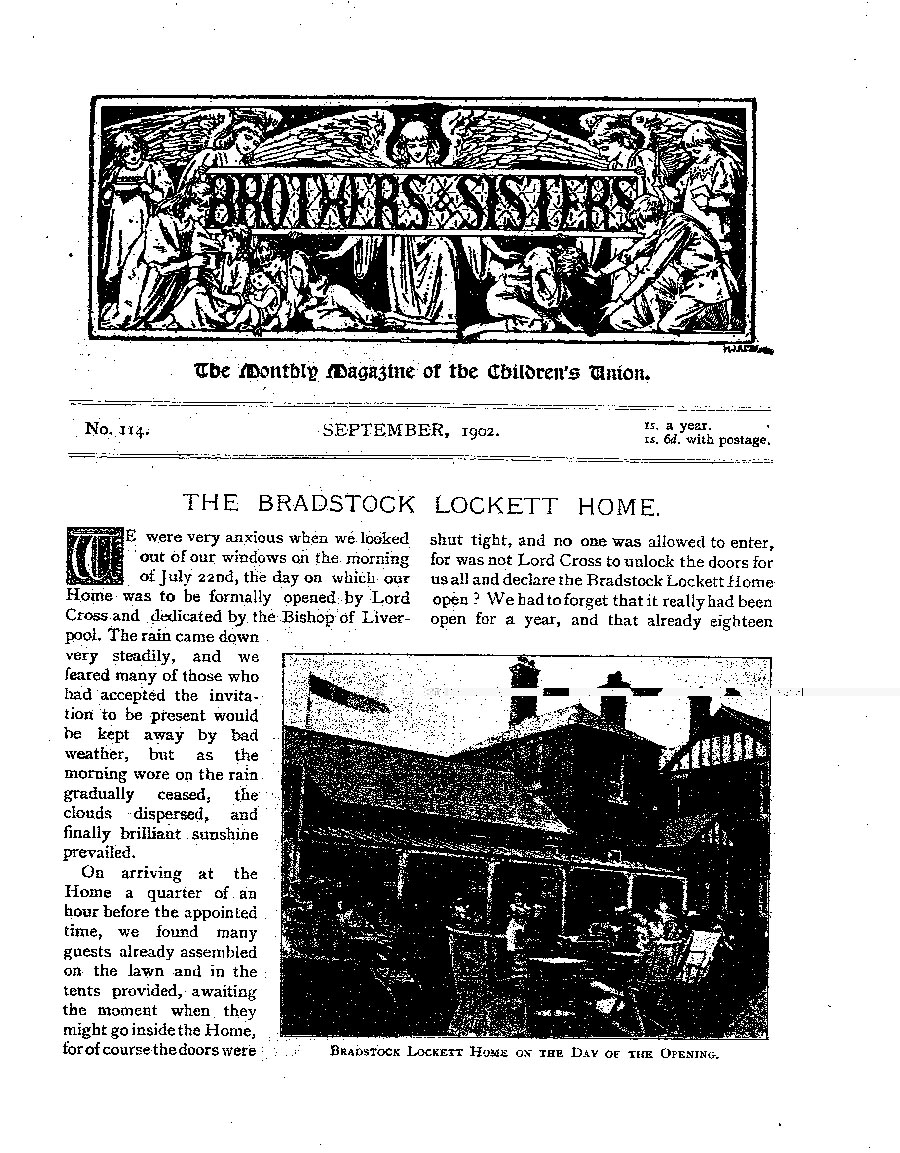 Brothers and Sisters September 1902 - page 1