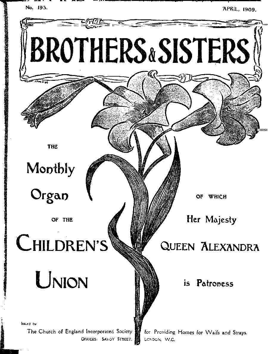 Brothers and Sisters April 1909 - page 1