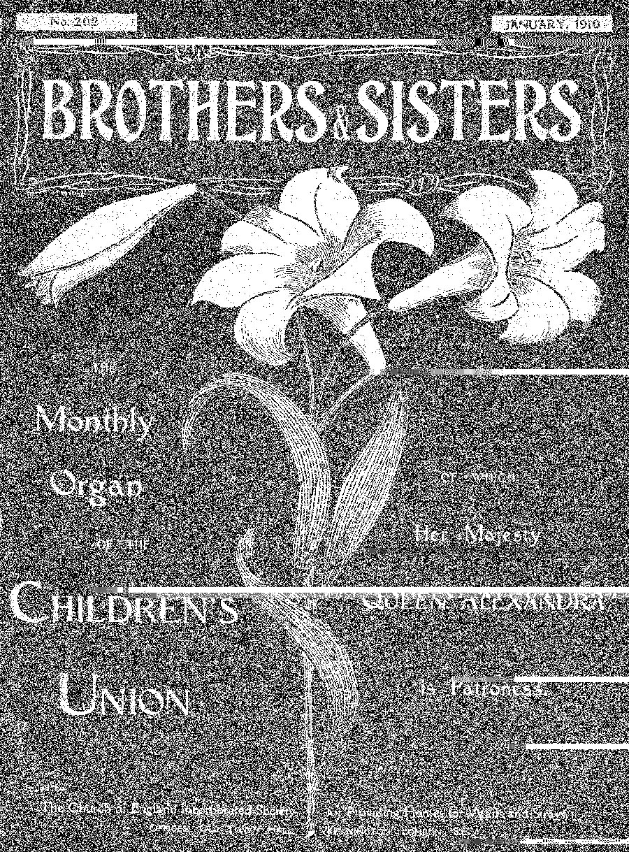 Brothers and Sisters January 1910 - page 1