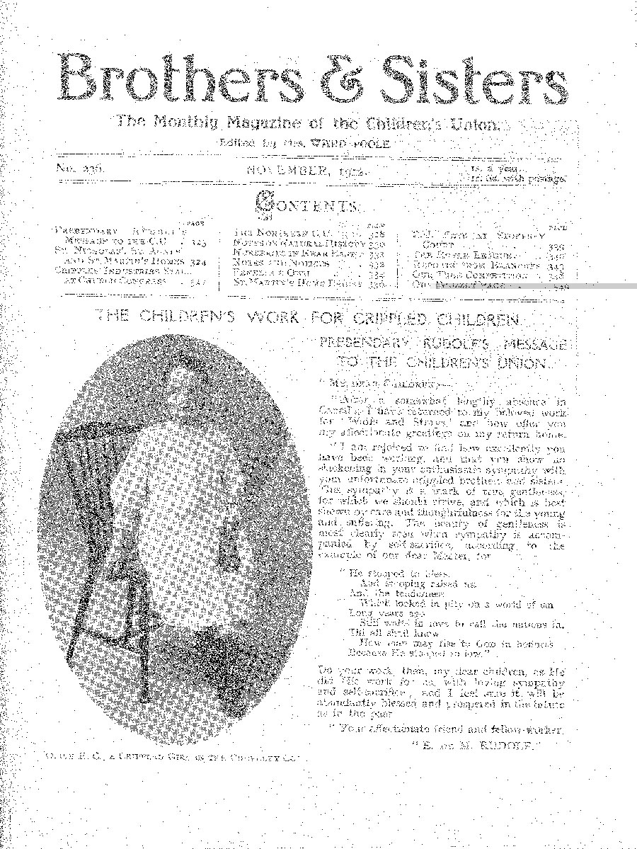 Brothers and Sisters November 1912 - page 1