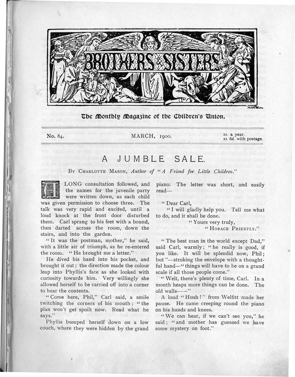 Brothers and Sisters March 1900 - page 1