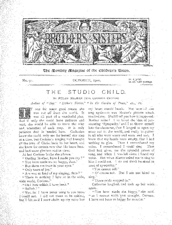Brothers and Sisters October 1900 - page 1