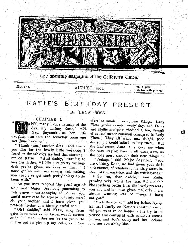 Brothers and Sisters August 1901 - page 1