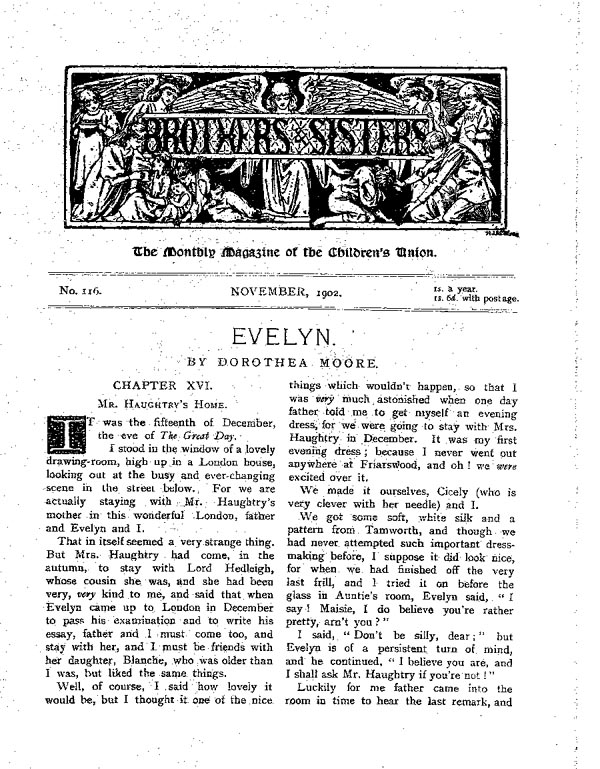 Brothers and Sisters November 1902 - page 1