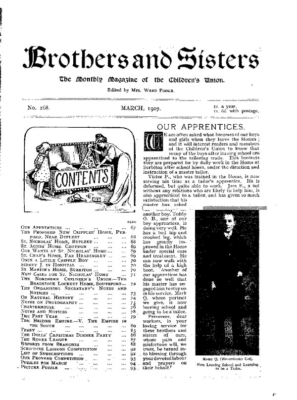 Brothers and Sisters March 1907 - page 1