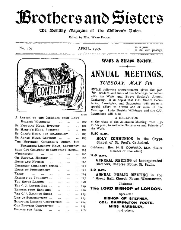 Brothers and Sisters April 1907 - page 1