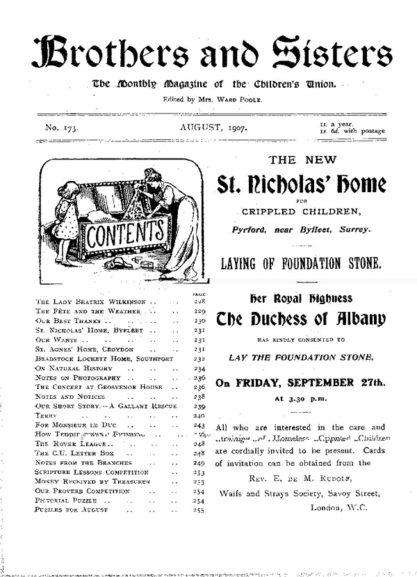 Brothers and Sisters August 1907 - page 1