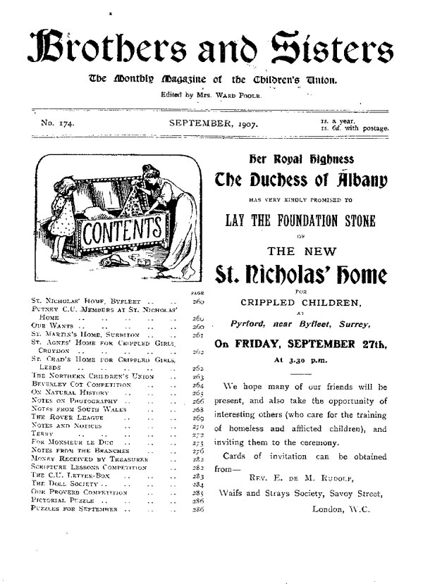Brothers and Sisters September 1907 - page 1