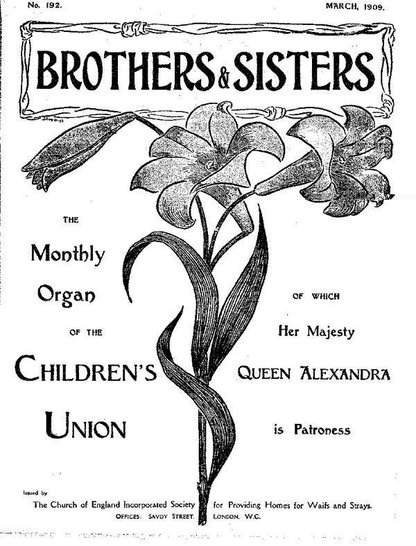 Brothers and Sisters March 1909 - page 1