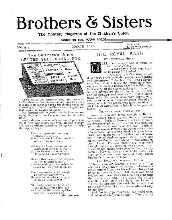 Brothers and Sisters March 1912 - page 1
