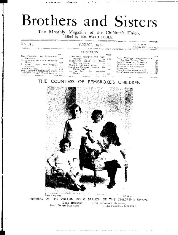 Brothers and Sisters August 1914 - page 1