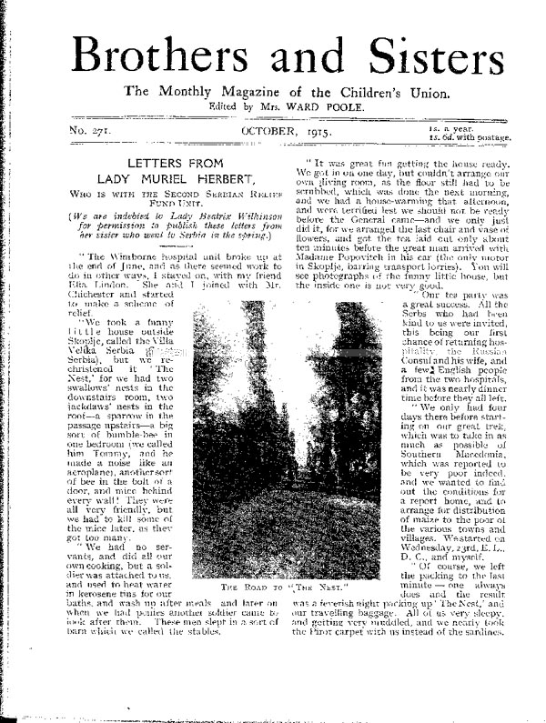 Brothers and Sisters October 1915 - page 1