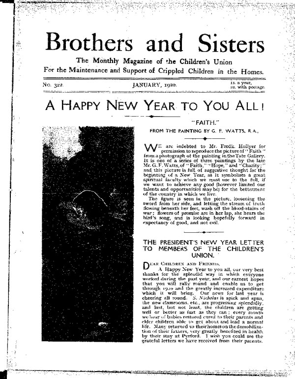 Brothers and Sisters January 1920 - page 1