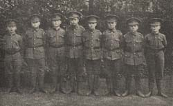 Cadets corps and Scout troops were an important part of life in the Society's boys' homes. The lads would dress in their uniforms to attend rallies or to go to camp.