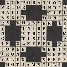 answer to crossword 2