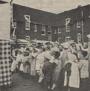 Many travelling shows, like Punch and Judy, visited the Homes to entertain the children, usually in the summer.