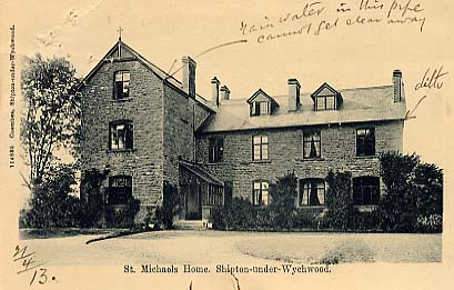 Postcard showing the front of the Home