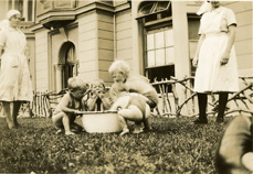 Children and staff at St Gregory's Home For Babies, Plymouth