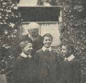 Rev W. Climpson with three of the Pelsall Boys