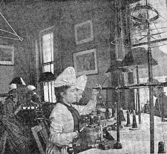 Using knitting machines 1890