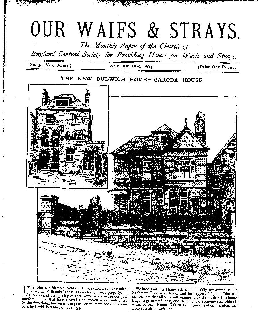 Our Waifs and Strays September 1884 - page 1