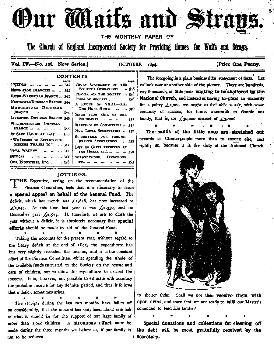 Our Waifs and Strays October 1894 - page 149