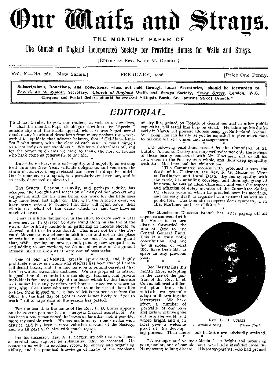 Our Waifs and Strays February 1906 - page 20