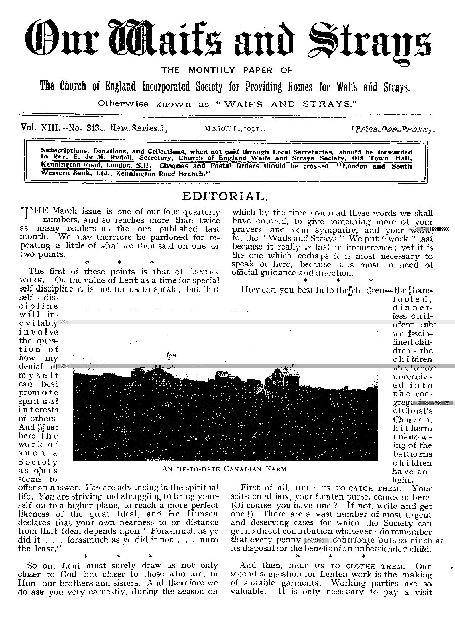 Our Waifs and Strays March 1911 - page 53