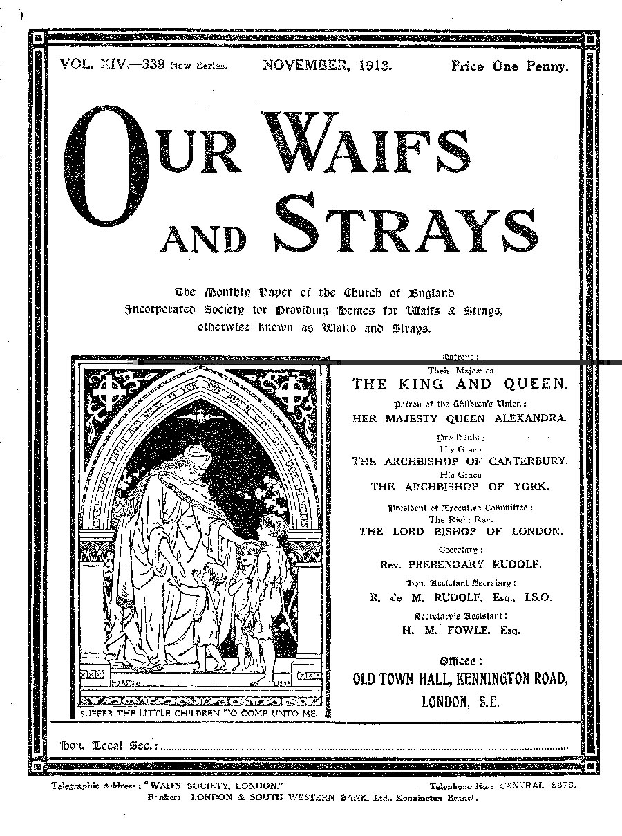 Our Waifs and Strays November 1913 - page 232