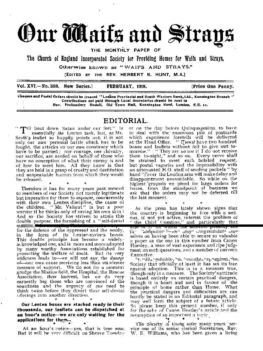Our Waifs and Strays February 1918 - page 11