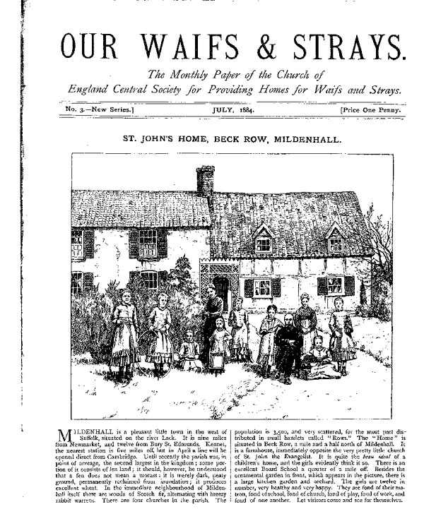 Our Waifs and Strays July 1884 - page 1