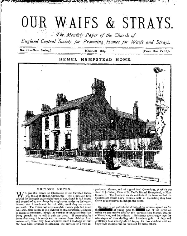 Our Waifs and Strays March 1885 - page 1