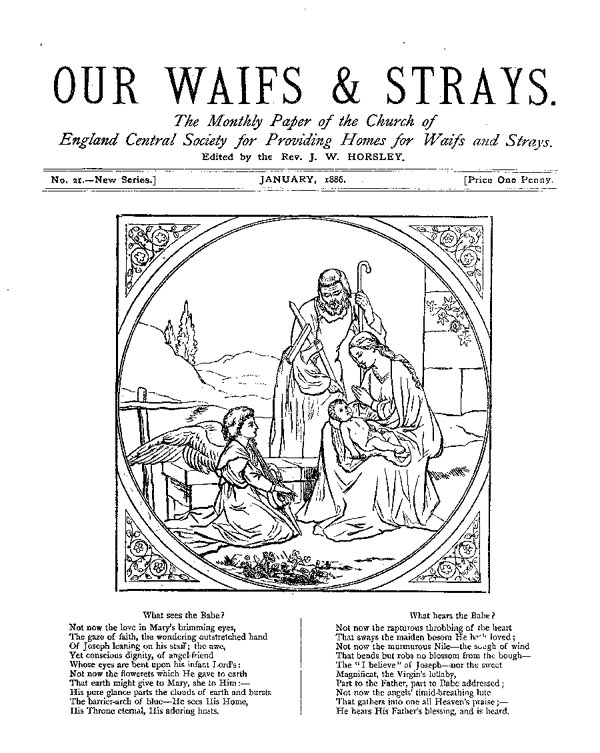 Our Waifs and Strays January 1886 - page 1
